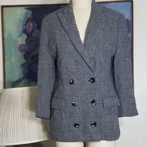 Ellen Tracy Double Breasted Blazer Size 4P